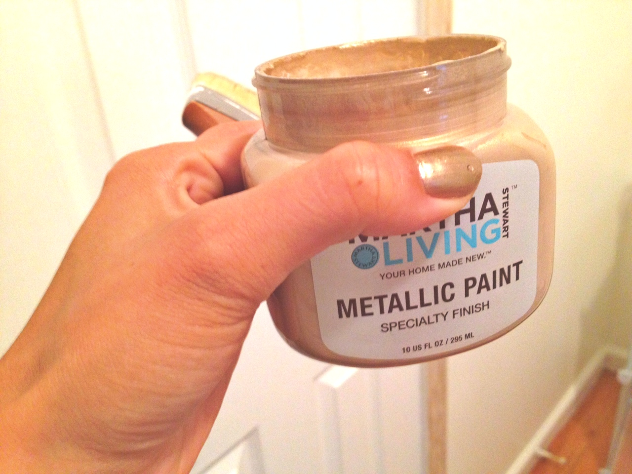 diy how to use metallic paint on bedroom walls and trims